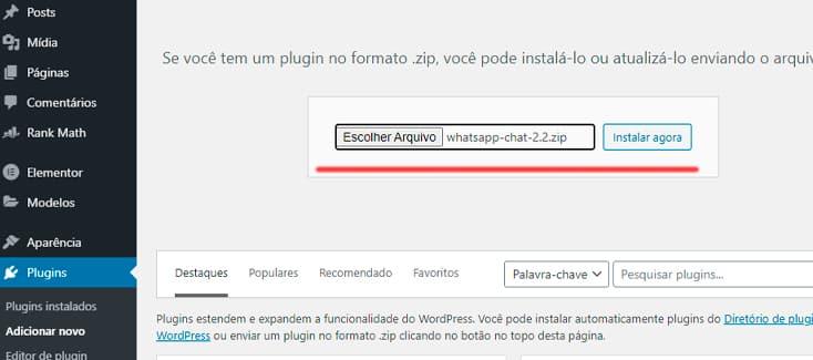 Instalação WhatsApp Ninja Team